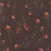 Moda - Country Charm by Holly Taylor - 7057 - Thistle on Barnwood Brown - 6792 17 - Cotton Fabric